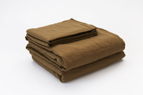 Olive French Linen Sheet Set