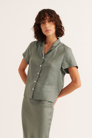 Olive Tatum Short Sleeve Shirt