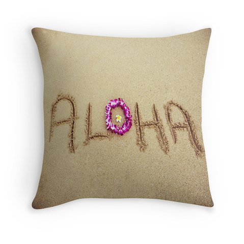 Aloha Beach Lei Pillow