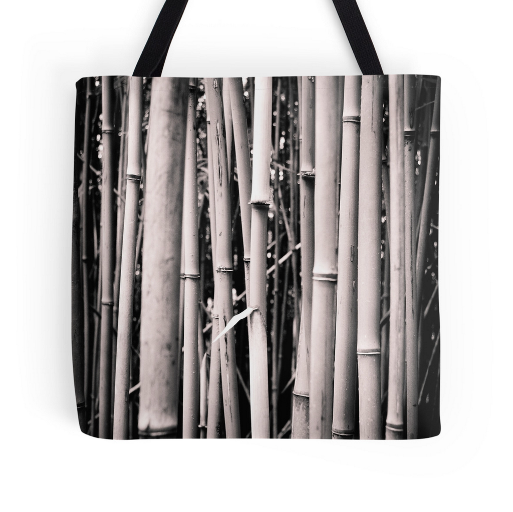 Black & White Bamboo Tote Bag
