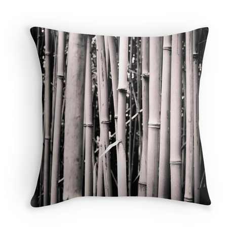 Black and White Bamboo Pillow