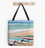Ocean Blues & Boards Tote Bag