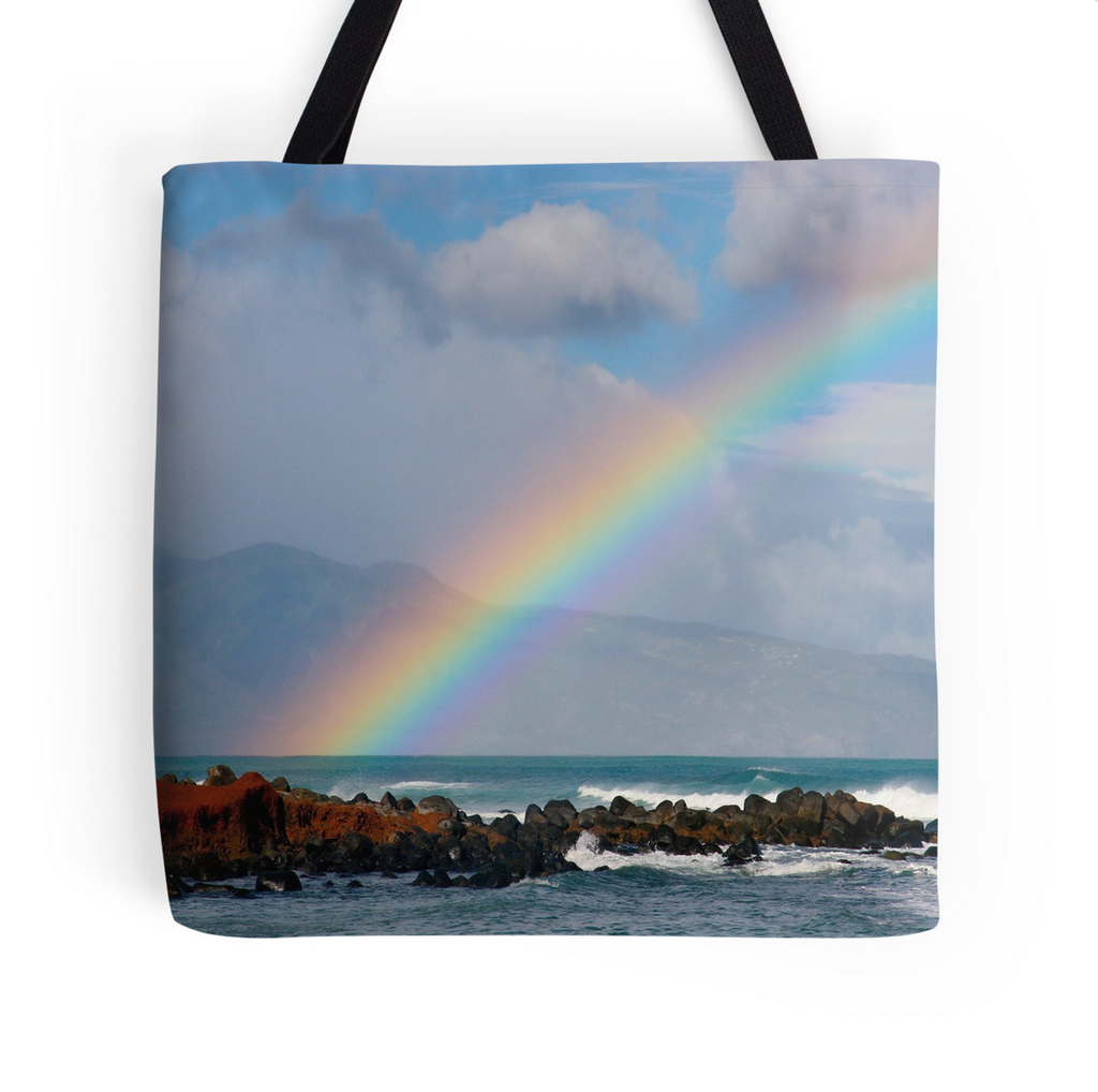 Bright Rainbow Tote Bag