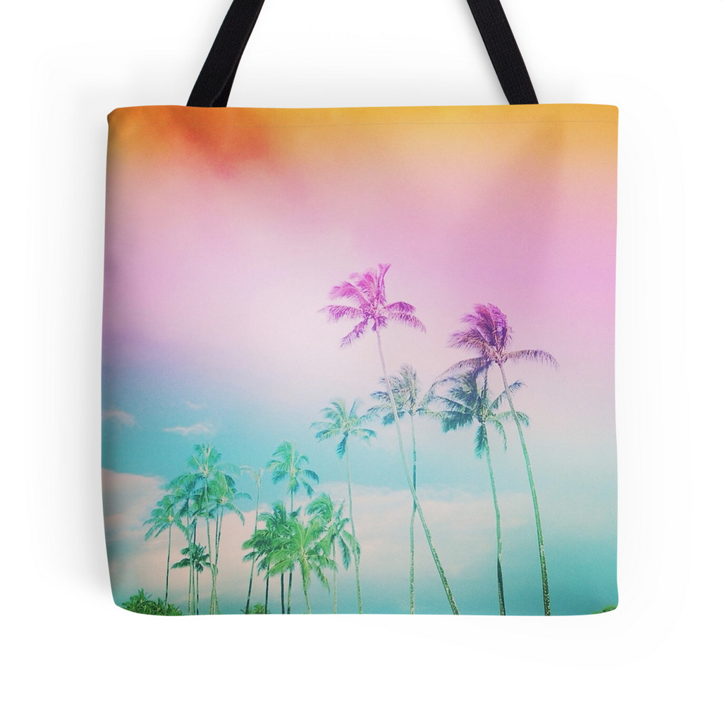 Cotton Candy Palms Tote Bag