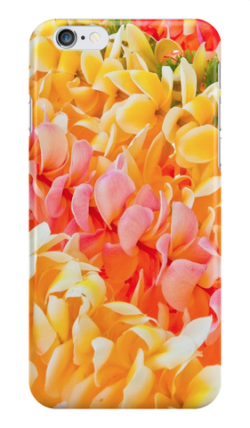 Diagonal Plumeria Leis iPhone Case