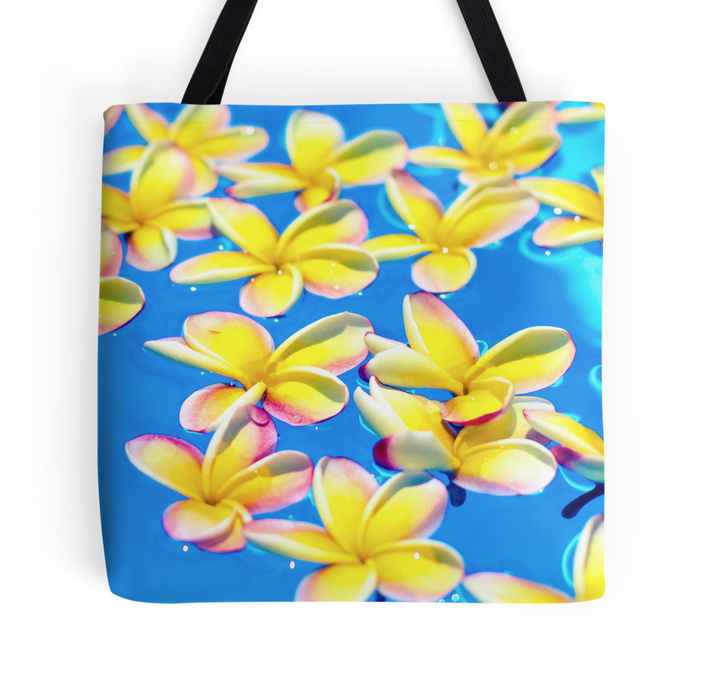 Floating Plumeria Tote Bag