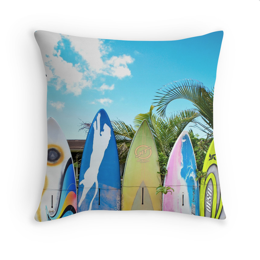 Surfboard Fence Pillow