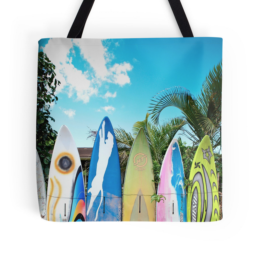 Fun Surf Fence Tote Bag