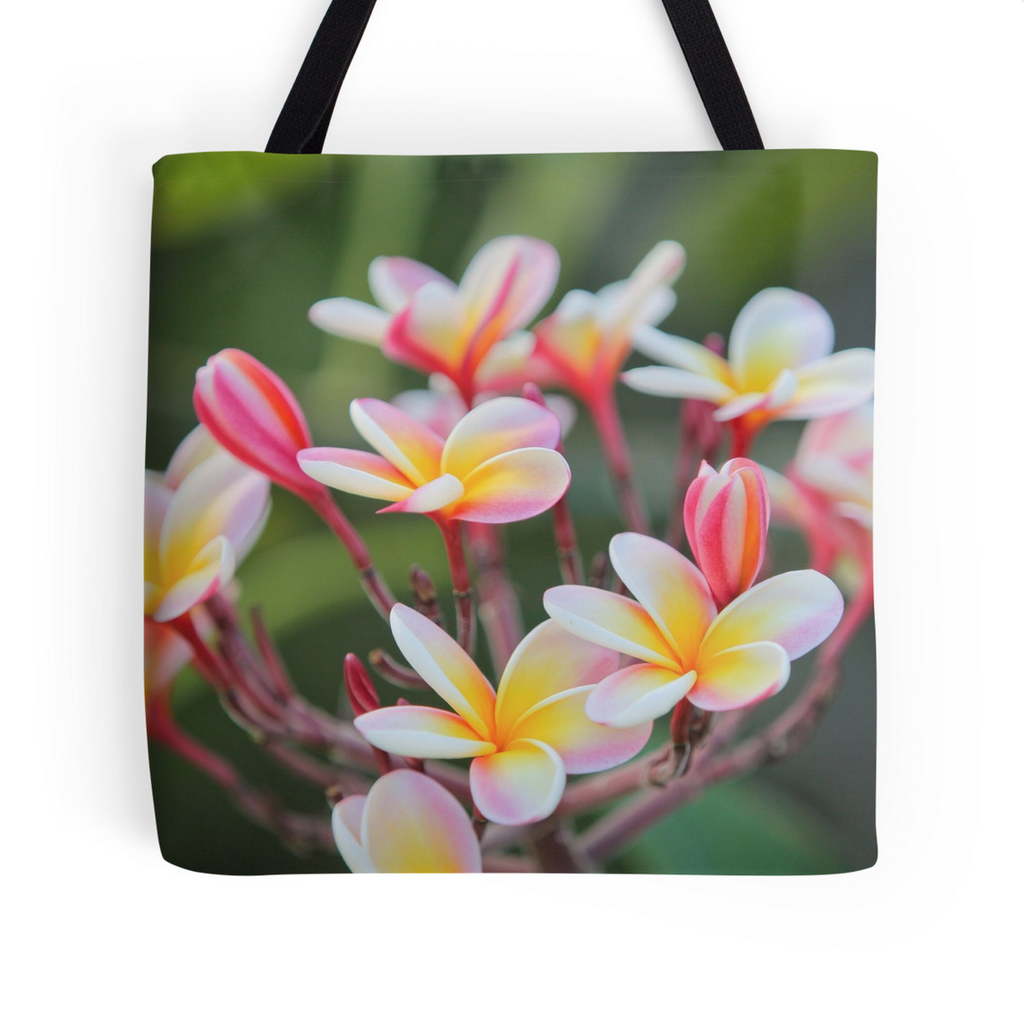 Hot Pink Plumeria Tote Bag