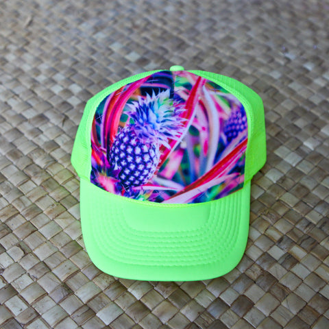 Purple Hawaiian Pineapple Hat