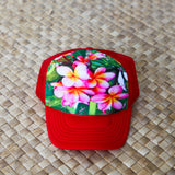 Child Pink Plumeria Tree Hat