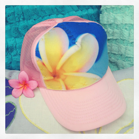 Child Plumeria Petals Hat