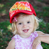 Child Diagonal Plumeria Leis Hat