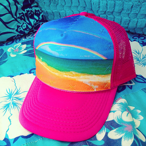 Double Rainbow Hat