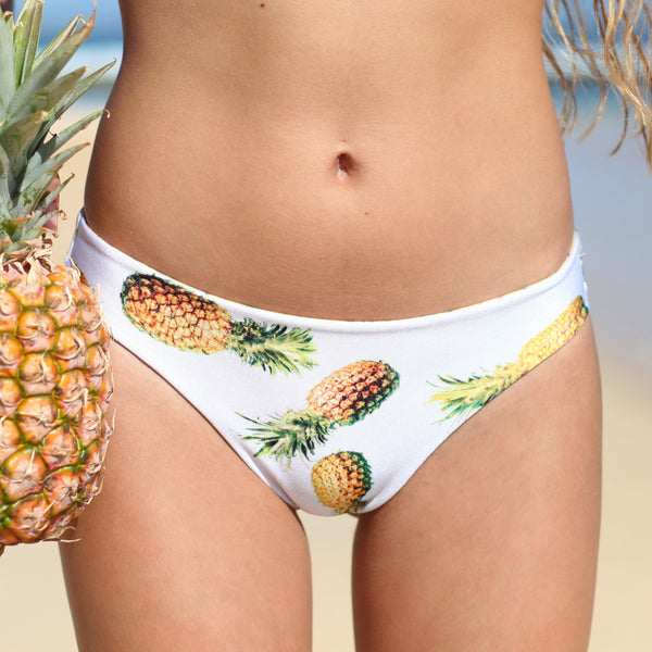 Bikini bottom features a tropical pineapple print throughout,low-rise BMJL Women's Halter Neck Swimsuit Tie Back Triangle Bikini Set Leaf Printed Two Piece Swimwear Bathing Suit. by BMJL. $ $ 12 99 Prime. FREE Shipping on eligible orders. Some sizes/colors are Prime eligible.