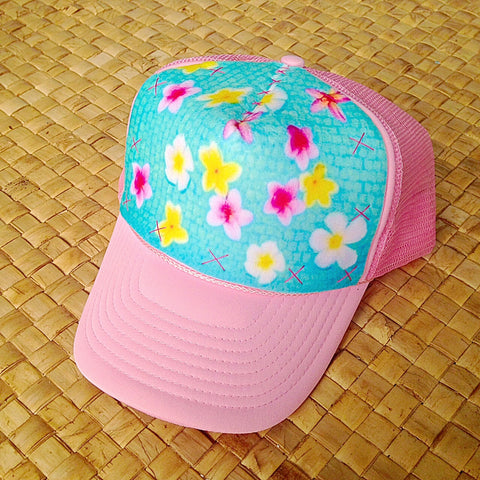 Colorful Floating Plumeria Hat