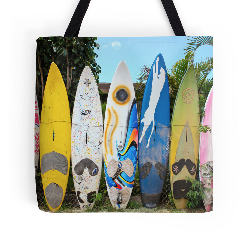Kuau Surf Fence Tote Bag