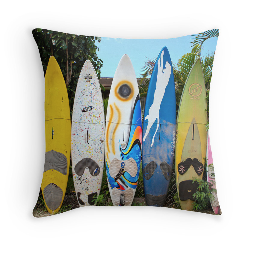Kuau Surf Fence Pillow