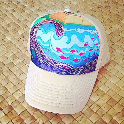 Drift Wood Wave Mural Hat