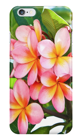 Pink Plumeria Tree iPhone Case