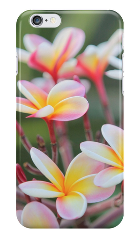 Hot Pink Plumeria iPhone Case
