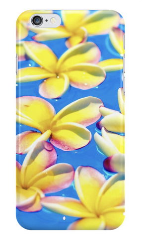 Floating Yellow Plumeria iPhone Case