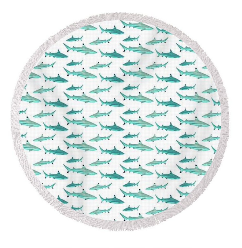 Tahiti Shark Round Towel