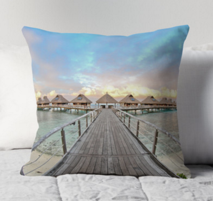 Bora Bora Bungalow Pillow