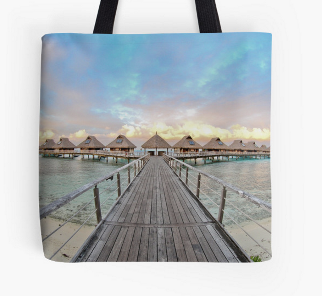 Bora Bora Bungalows Tote Bag