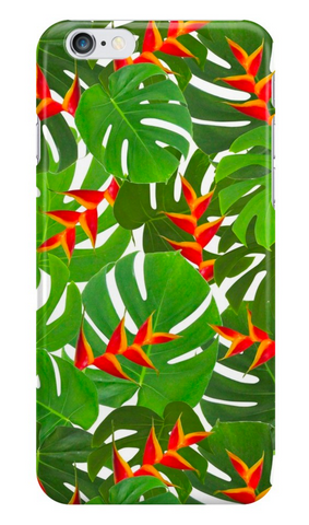 Monstera & Heliconia iPhone Case