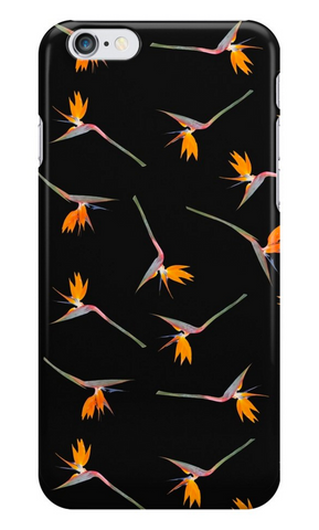 Midnight Bird of Paradise iPhone Case