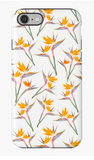Bird of Paradise on White iPhone Case