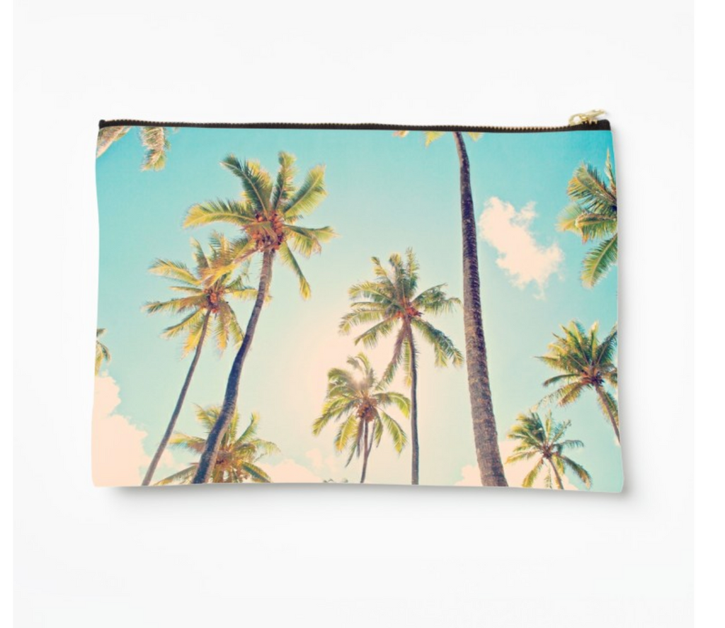 Temae Beach Palms Clutch