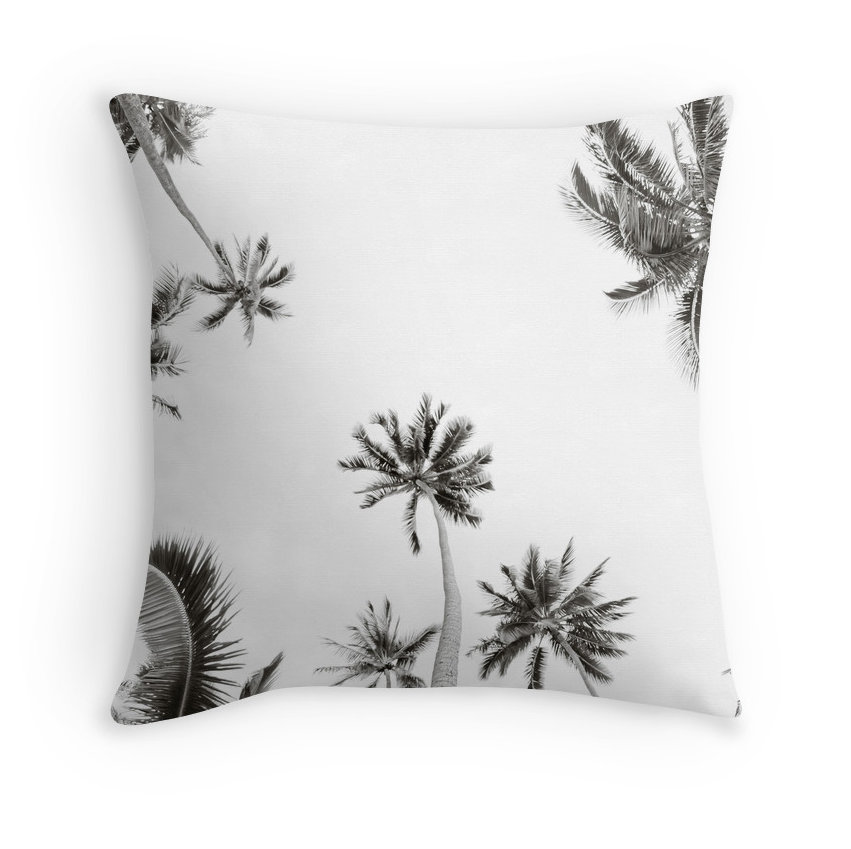 B&W Moorea Palm Skies Pillow
