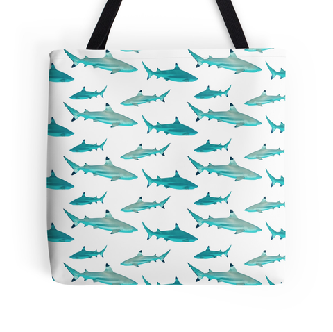 Tahiti Shark Tote Bag