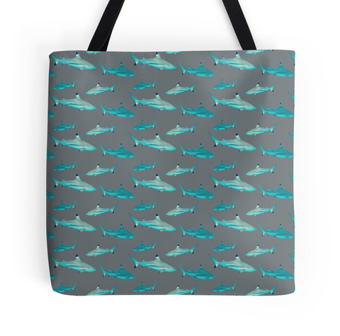 Tahiti Shark with Grey Tote Bag