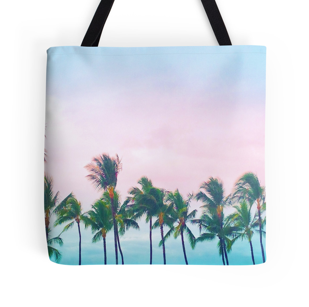 Wailea Palms Tote Bag