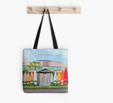 Paia Rainbow Surf Fence Tote Bag