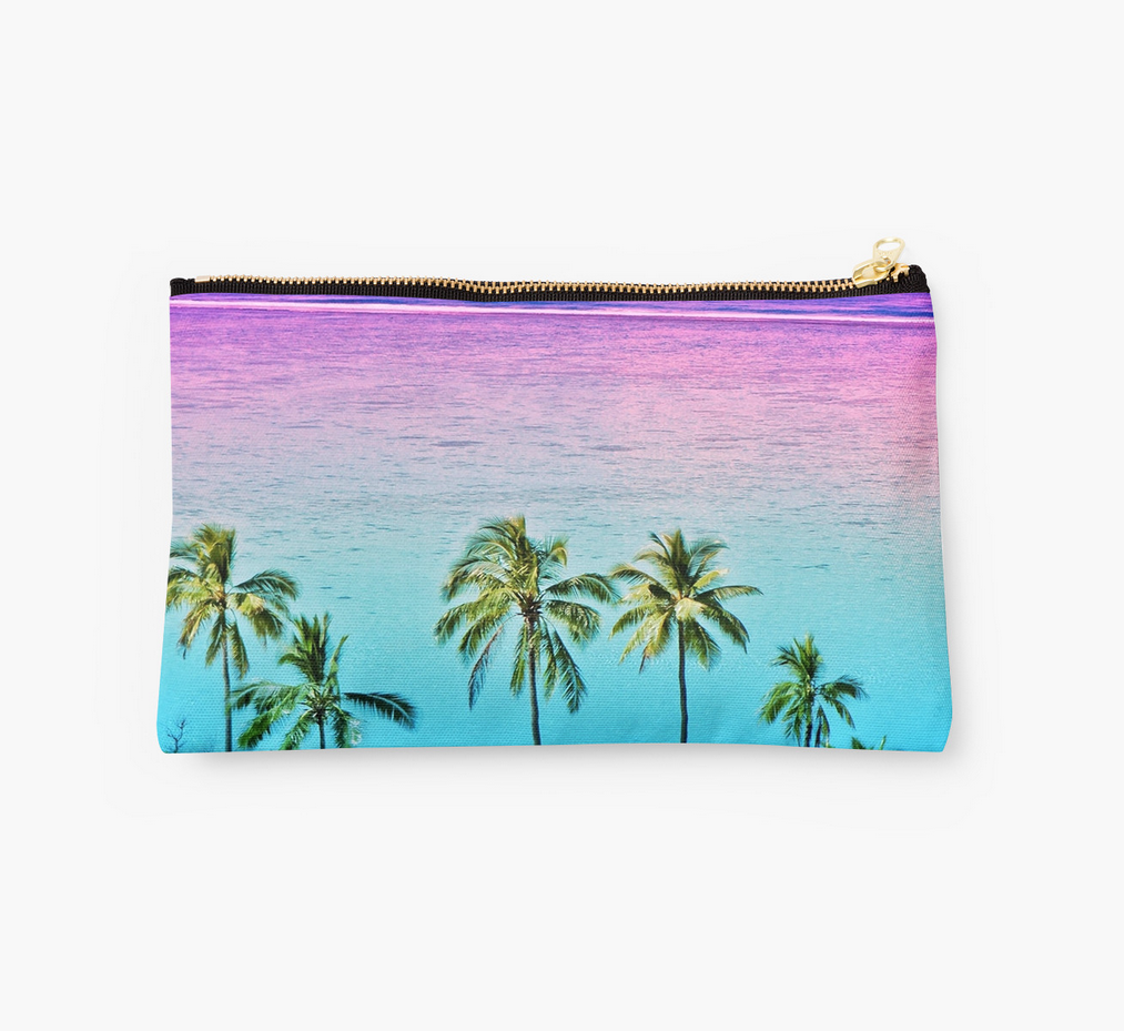 Moorea Sunset Palms Clutch