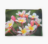 Hot Pink Plumeria Clutch