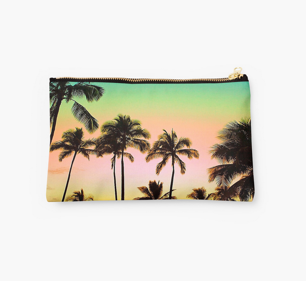 Neon Sunset & Palms Clutch