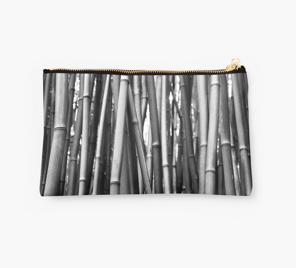 Black & White Bamboo Clutch