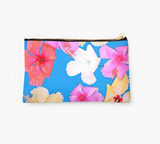 Vibrant Floating Hibiscus Clutch