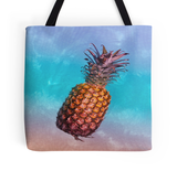 Rainbow Waters Pineapple Tote Bag