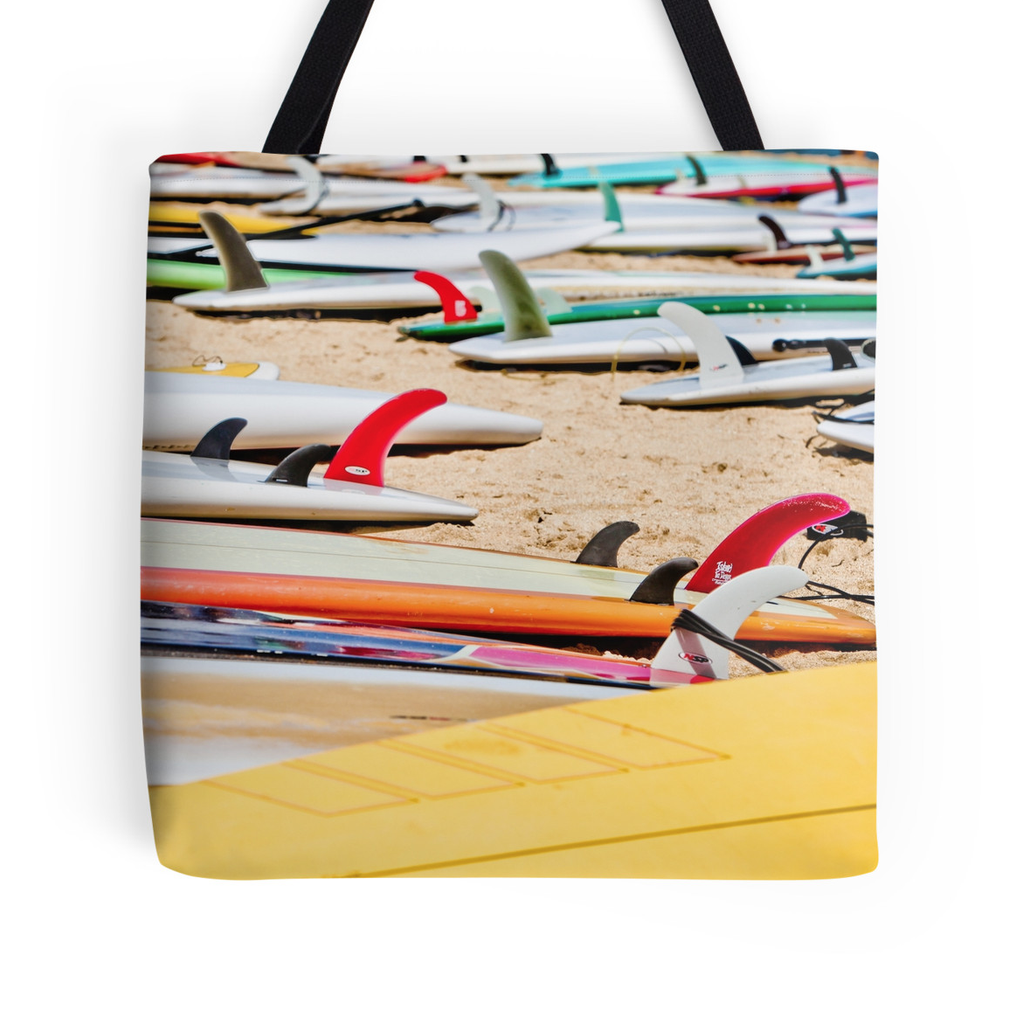 Rainbow Surf Fins Tote Bag