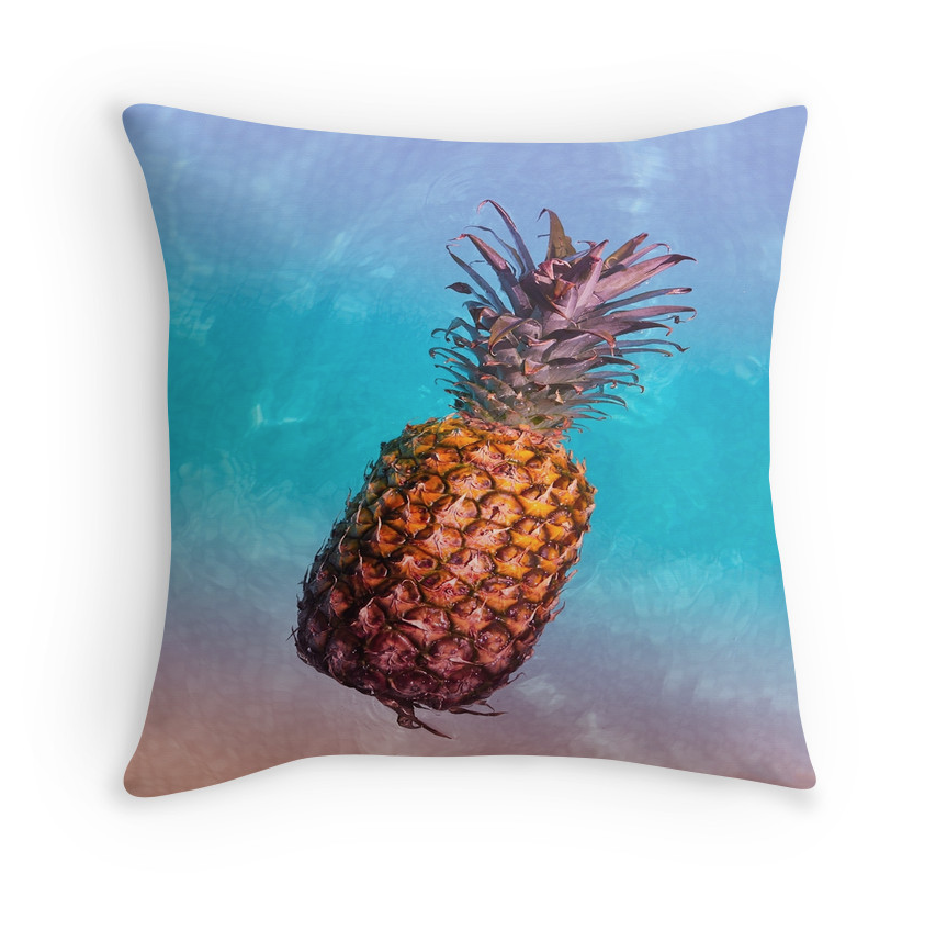 Rainbow Waters Pineapple Pillow