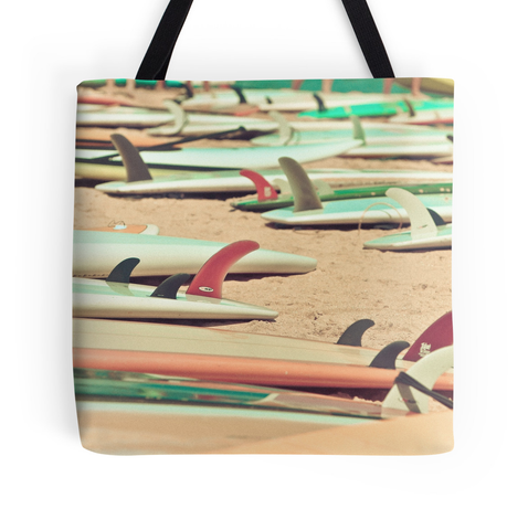 Retro Surf Fins Tote Bag