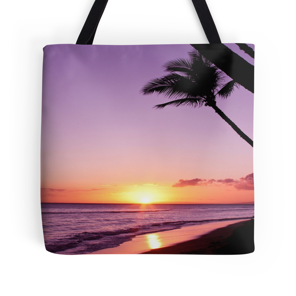 Ka'anapali Purple Sunset Tote Bag