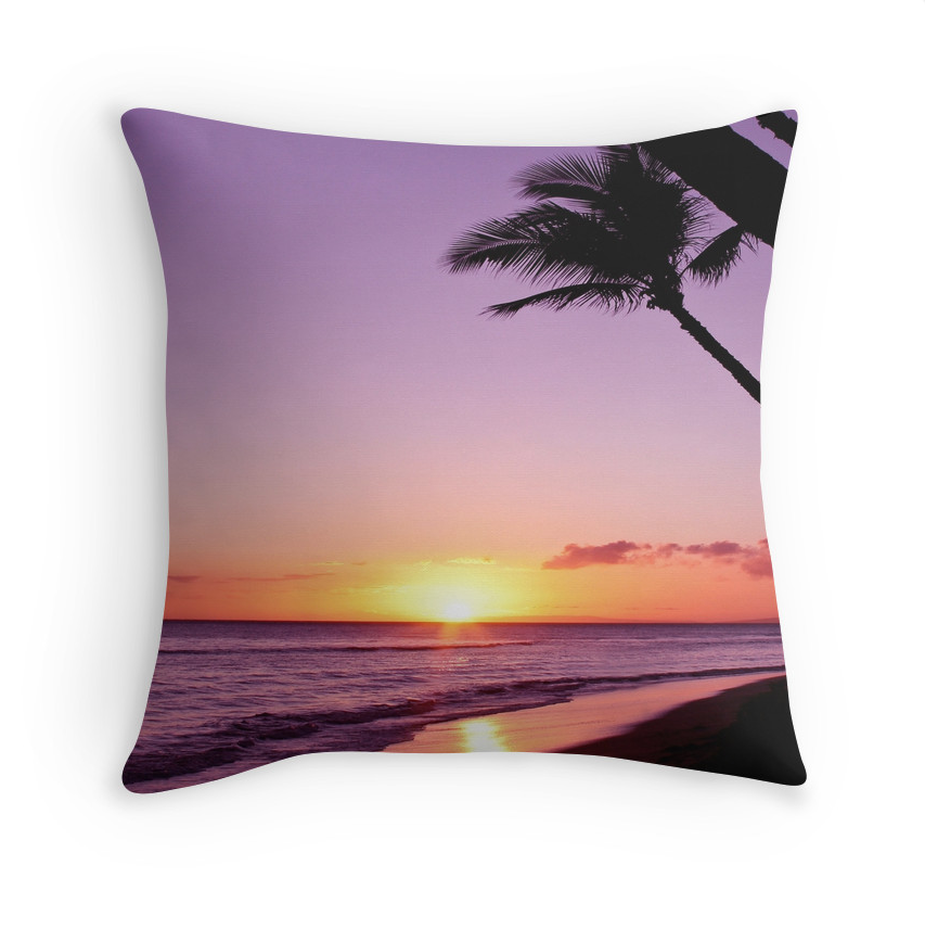 Ka'anapali Purple Sunset Pillow