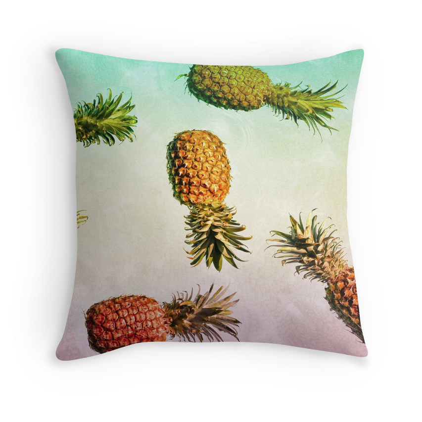Rasta Colored Pineapples Pillow